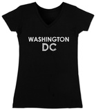 Juniors: V-Neck- Washington DC Neighborhoods T-Shirts