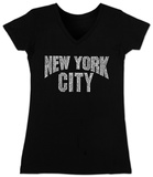 Juniors: V-Neck- NYC Neighborhoods T-shirts