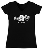 Juniors: V-Neck- Aloha T-Shirt