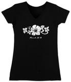 Juniors: V-Neck- Aloha Womens V-Necks