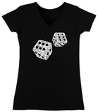 Juniors: V-Neck- Dice out of Crap Terms T-Shirts