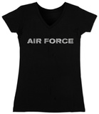 Juniors: V-Neck- Lyrics To The Air Force Song T-shirts