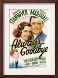 Always Goodbye, Barbara Stanwyck, Herbert Marshall, 1938 Print