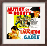 Mutiny on the Bounty, Charles Laughton, Movita, Clark Gable, 1935 Art