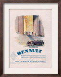 Renault, Magazine Advertisement, USA, 1930 Prints