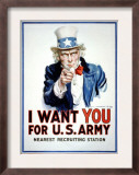 I Want You for the U.S. Army Posters by James Montgomery Flagg