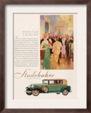 Studebaker, Magazine Advertisement, USA, 1929 Prints