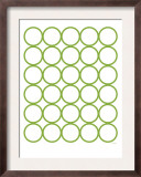 Green Circles Print by  Avalisa