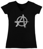 Women's: V-Neck- Great All Time Punk Songs T-shirt con collo a V