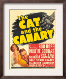 The Cat and the Canary, Paulette Goddard, Bob Hope on Window Card, 1939 Prints