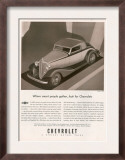 Chevrolet, Magazine Advertisement, USA, 1933 Print