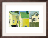 Yellow Houses Triptych Print