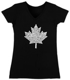 Juniors: V-Neck- Canada National Anthem Koszulki