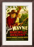 Riders of Destiny, John Wayne, Cecilia Parker, 1933 Psters