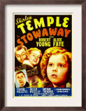 Stowaway, Robert Young, Alice Faye, Shirley Temple, 1936 Art