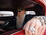 Billy F. Gibbons ZZ Top Car Lámina fotográfica por David Perry