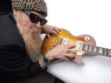 Billy F. Gibbons Les Paul Fotografisk tryk af David Perry