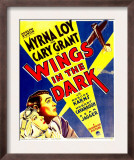 Wings in the Dark, Myrna Loy, Cary Grant on Window Card, 1935 Print