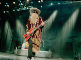 Billy F. Gibbons Live Performance Playing a Custom Gretsch Photographie par David Perry