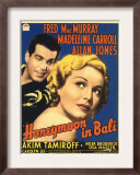 Honeymoon in Bali, Fred Macmurray, Madeleine Carroll on Midget Window Card, 1939 Prints