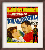 Anna Karenina, Greta Garbo, Fredric March, Freddie Bartholomew on Window Card, 1935 Prints