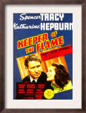 Keeper of the Flame, Spencer Tracy, Katharine Hepburn on Midget Window Card, 1942 Print