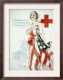 I Summon You to Comradeship in the Red Cross, Woodrow Wilson Poster by Harrison Fisher