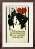 People's Fund for German War and Civil Prisoners Posters by Ludwig Hohlwein