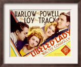 Libeled Lady, William Powell, Myrna Loy, Jean Harlow, Spencer Tracy, 1936 Poster