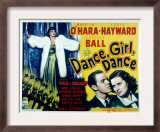 Dance, Girl, Dance, Lucille Ball, Louis Hayward, Maureen O&#39;Hara, 1940 Art