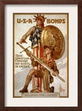 U*S*A Bonds, Third Liberty Loan Campaign, Boy Scouts of America Weapons for Liberty Posters by Joseph Christian Leyendecker
