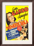 Ninotchka, Greta Garbo, Greta Garbo, Melvyn Douglas on Midget Window Card, 1939 Prints