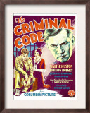 The Criminal Code, Phillips Holmes, Constance Cummings, Walter Huston on Window Card, 1931 Prints