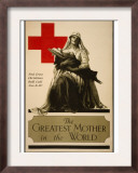 The Greatest Mother in the World, Red Cross Christmas Roll Call Dec. 16-23rd Prints by Alonze Earl Foringer