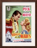 Captain Horatio Hornblower, Gregory Peck, Virginia Mayo, 1951 Prints