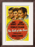 The Talk of the Town, Cary Grant, Jean Arthur, Ronald Colman, 1942 Prints