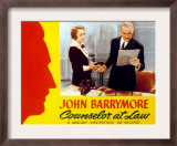 Counsellor at Law, Bebe Daniels, John Barrymore, 1933 Prints