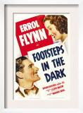 Footsteps in the Dark, Errol Flynn, Brenda Marshall, 1941 Print