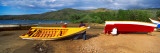 Fishermen Repairing Boats, Mochima, Mochima National Park, Anzoategui State-Sucre State, Venezuela Autocollant mural par  Panoramic Images
