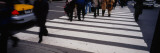Group of People Crossing at a Zebra Crossing, New York City Wall Decal by  Panoramic Images