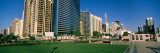 Mosque in a City, Sheikh Rashid Bin Saeed Al Maktoum Street, Abu Dhabi, United Arab Emirates Wall Decal by  Panoramic Images