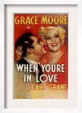 When You'Re in Love, Cary Grant, Grace Moore, 1937 Posters