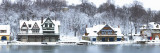 Boathouse Row at the Waterfront, Schuylkill River, Philadelphia Wall Decal by  Panoramic Images