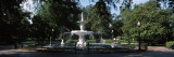 Fountain in a Park, Forsyth Park, Savannah, Georgia Wall Decal by  Panoramic Images