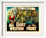 All Quiet on the Western Front, Poster Art, 1930 Art