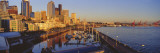 Buildings at The Waterfront, Elliott Bay, Bell Harbor Marina, Seattle Wall Decal by  Panoramic Images