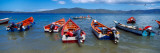Fishing Boats in The Sea, Santa Fe, Mochima National Park, Anzoategui State-Sucre State, Venezuela Wall Decal by  Panoramic Images