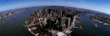Aerial View of a City, New York City, New York State Wall Decal by  Panoramic Images