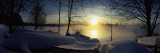 Snow Covered Boats at The Riverside, Vuoksi River, Imatra, South Karelia, Southern Finland Wall Decal by  Panoramic Images