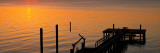 Silhouetted Ocean Pier at Sunrise, Maryland Wall Decal